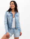 STRIPED SLEEVE DENIM JACKET - U.S. Polo Assn.