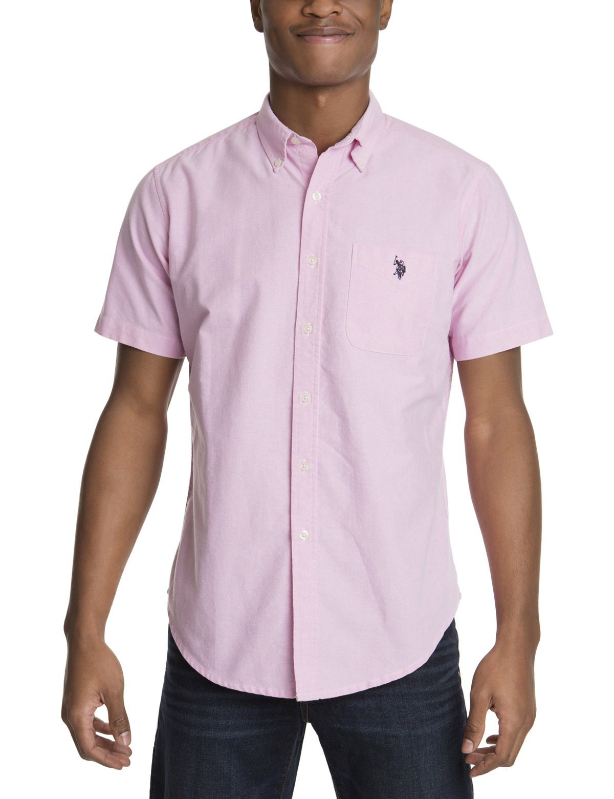 SHORT SLEEVE SOLID OXFORD - U.S. Polo Assn.