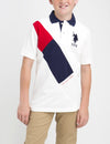 BOYS DIAGONAL POLO SHIRT - U.S. Polo Assn.