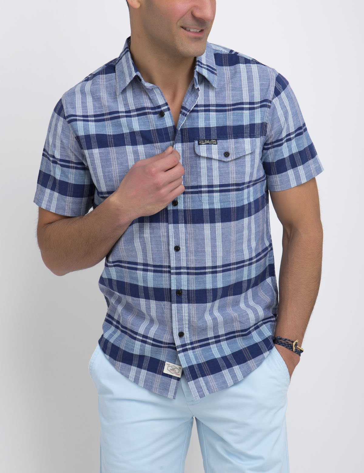 SLIM FIT PLAID SHIRT - U.S. Polo Assn.