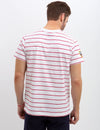 CREW NECK DIAGONAL STRIPED TEE