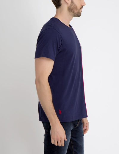 U.S. POLO ASSN. VERTICAL COLORBLOCK T-SHIRT