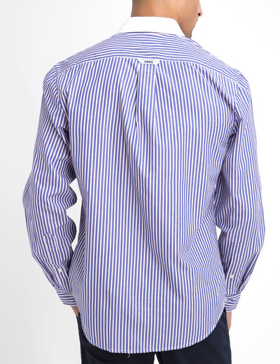 CLASSIC FIT STRIPE SHIRT IN POPLIN - U.S. Polo Assn.