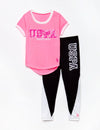 GIRLS 2 PIECE SET: TEE-SHIRT & LEGGINGS - U.S. Polo Assn.