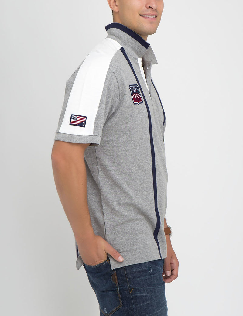 PATCHED USA VERTICAL POLO SHIRT