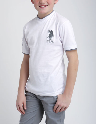Boys V-Neck Big Logo T-Shirt - U.S. Polo Assn.