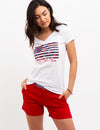 FADED FLORAL FLAG T-SHIRT - U.S. Polo Assn.