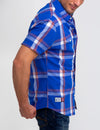STRETCH SLIM PLAID SHIRT