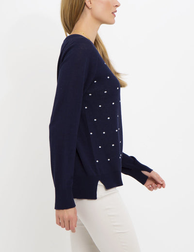 DOT PRINT SWEATER