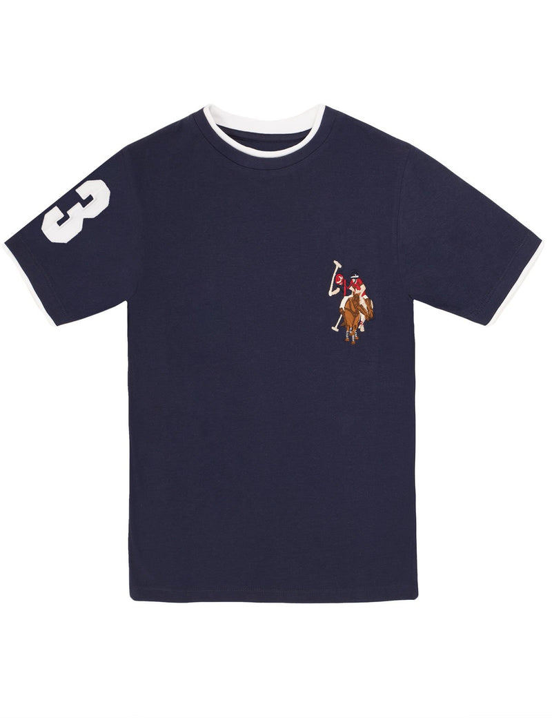 Boys Crew Neck Multi-Color Logo T-Shirt