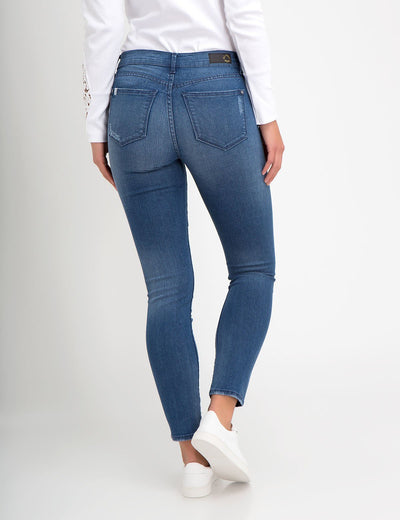 STRETCH SUPER SKINNY ZIP JEAN