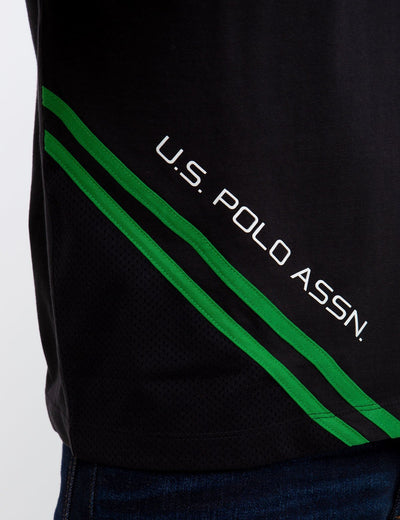 MESH TRIM TEE - U.S. Polo Assn.