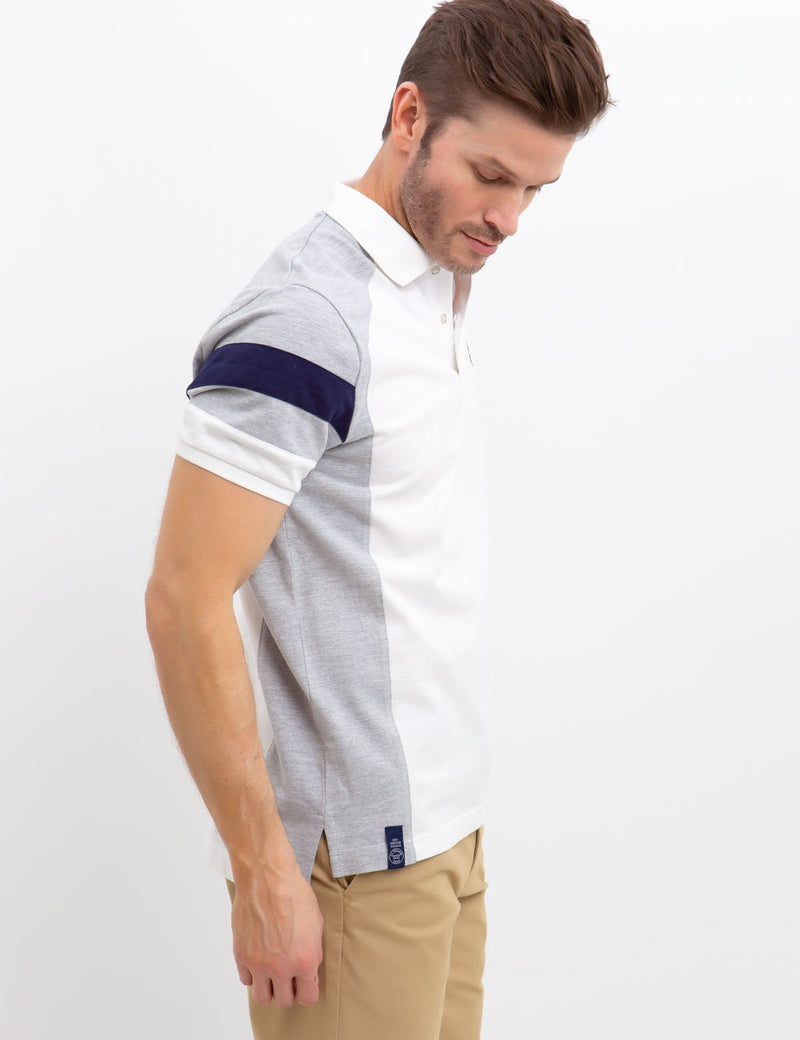 SHOULDER COLORBLOCK POLO SHIRT