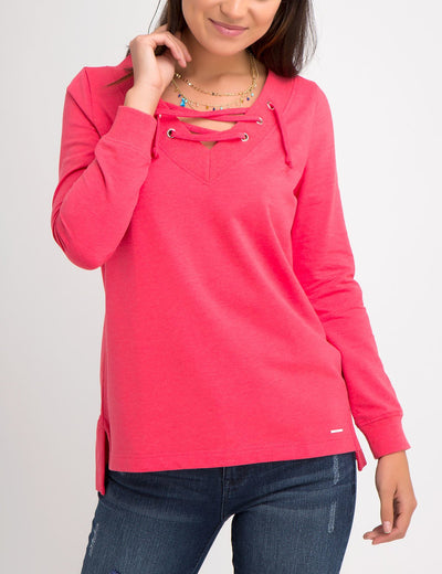 LACE UP SWEATSHIRT - U.S. Polo Assn.