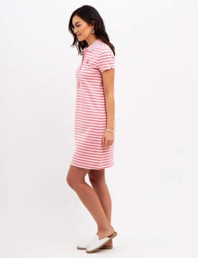 STRIPED ZIP DRESS - U.S. Polo Assn.
