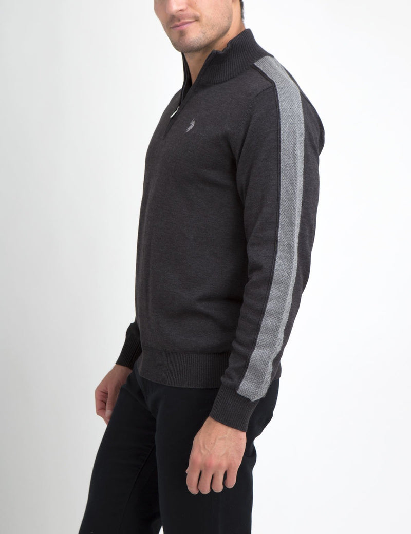 STRETCH 1/4 ZIP SWEATER