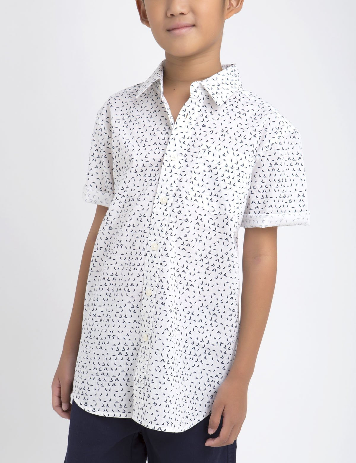 BOYS ORIGAMI PRINT SHIRT - U.S. Polo Assn.