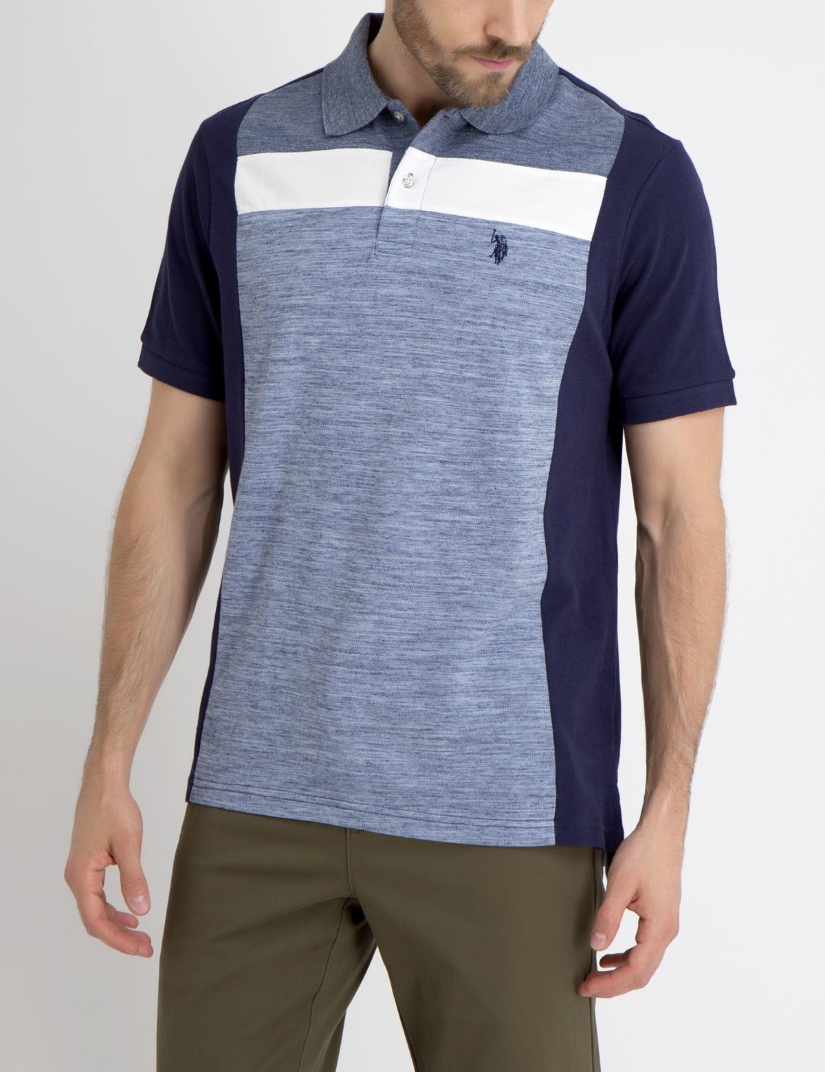 HORIZONTAL STRIPE POLO SHIRT