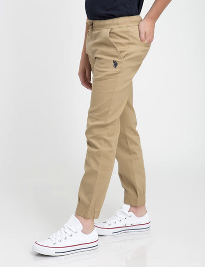 Boys PULL-ON DRAWSTRING FLEX MOTO JOGGER - U.S. Polo Assn.