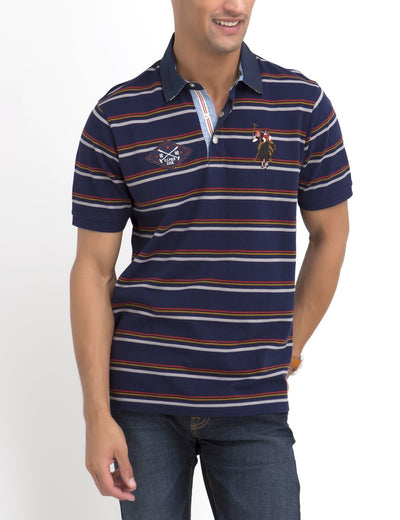 MULTI STRIPED POLO SHIRT