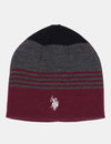 REV BLOCK STRIPE BEANIE