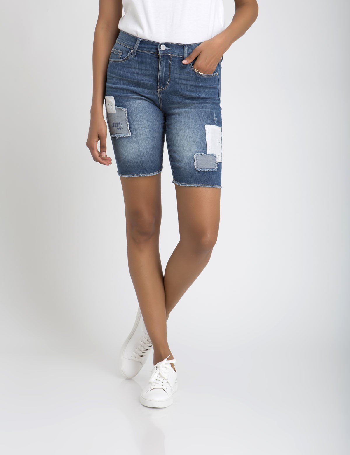 CROCHET PATCHED DENIM SHORTS - U.S. Polo Assn.