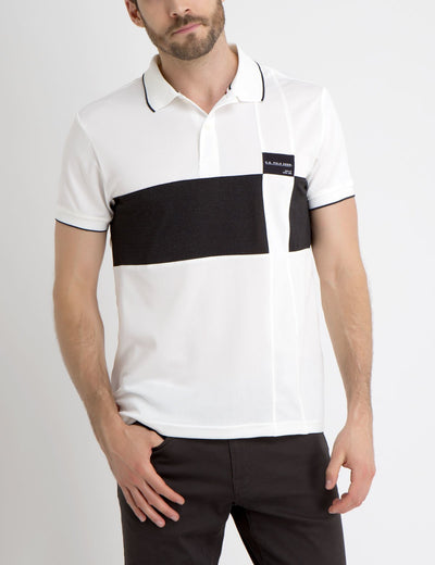 PATCHED COLORBLOCK POLO SHIRT - U.S. Polo Assn.