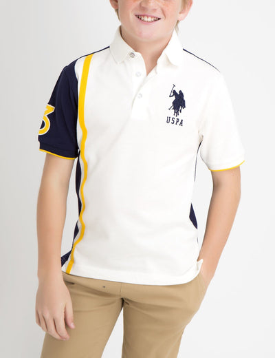 BOYS VERTICAL STRIPE POLO SHIRT - U.S. Polo Assn.