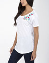 EMBROIDERED FLORAL CLUSTER T-SHIRT - U.S. Polo Assn.