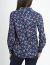 MULTI FLORAL ROLL-UP POPLIN SHIRT