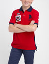 BOYS PATCH POLO SHIRT