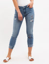 EMBROIDERED MID RISE RELAXED FIT JEANS - U.S. Polo Assn.