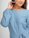 CHAMBRAY LONG SLEEVE ROMPER - U.S. Polo Assn.