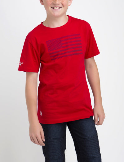 BOYS FLAG PRINT TEE - U.S. Polo Assn.