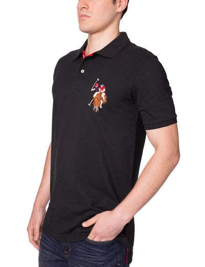 Pique Mesh Multi-Color Logo Polo Shirt - U.S. Polo Assn.