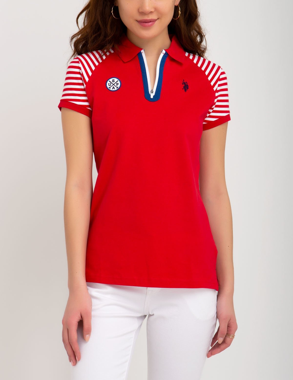 STRIPED SLEEVE POLO SHIRT