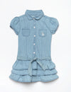 TODDLER SHORT SLEEVE DENIM DRESS - U.S. Polo Assn.