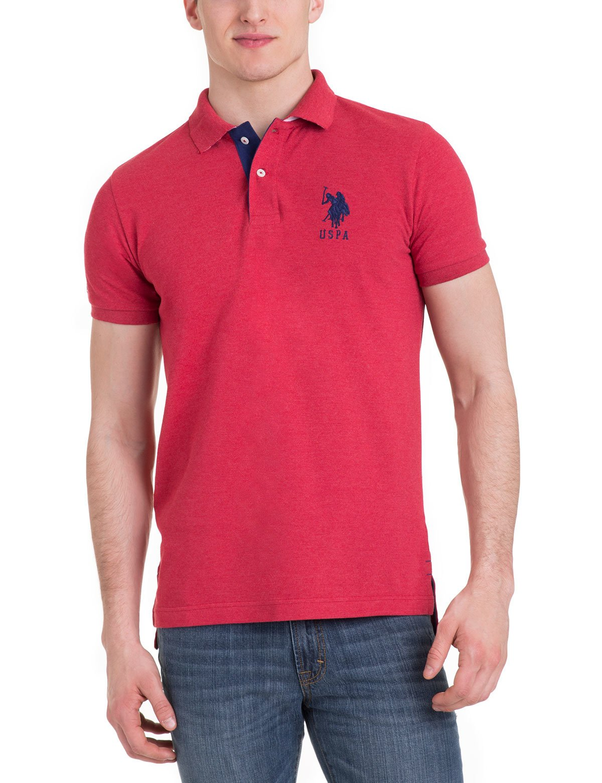 Slim Fit Pique Mesh Polo Shirt - U.S. Polo Assn.