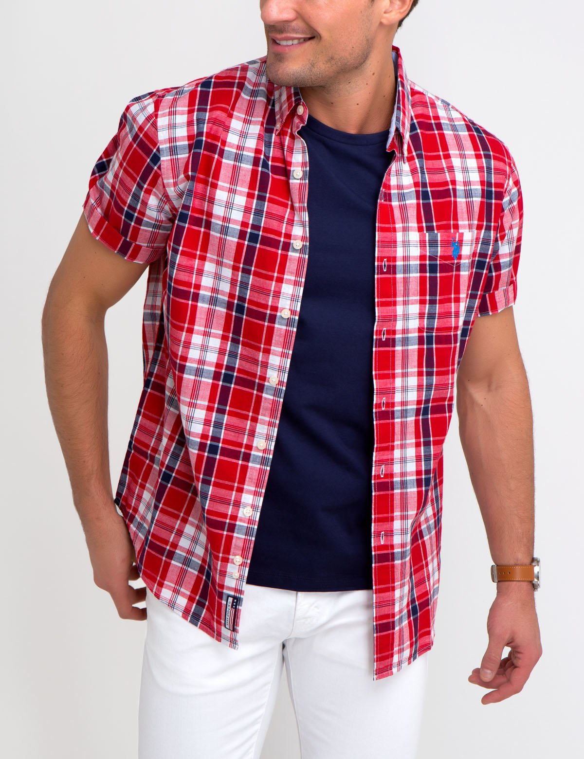 STRETCH SLIM POPLIN SHIRT