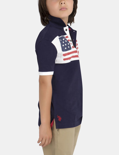 BOYS FLAG POLO SHIRT