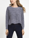 MARLED SCALLOP SWEATER