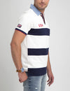 USA OXFORD COLLAR STRIPED POLO SHIRT - U.S. Polo Assn.