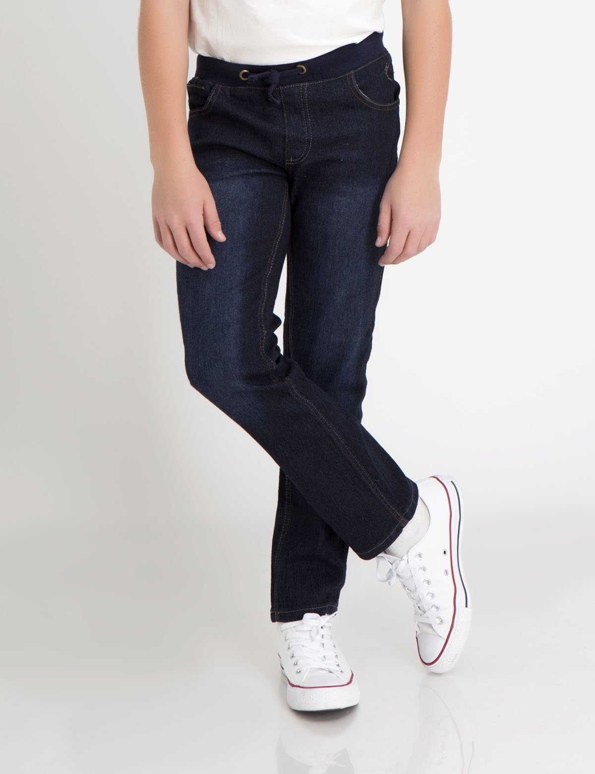 RIBBED DRAWSTRING WAIST JEANS - U.S. Polo Assn.