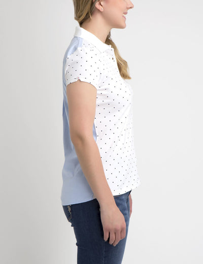 PREMIUM DOT OXFORD MIX POLO SHIRT