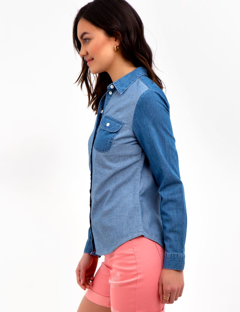 LONG SLEEVE DENIM TOP - U.S. Polo Assn.