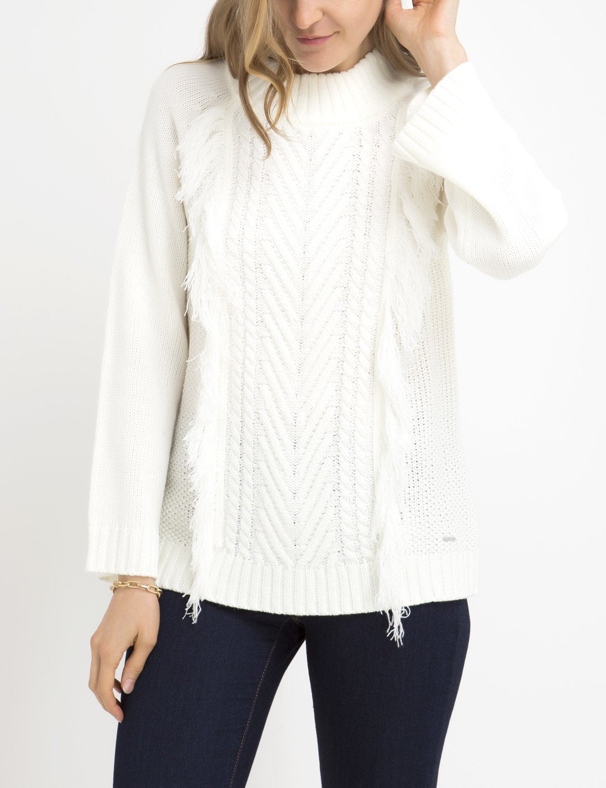 FRINGE MOCK NECK SWEATER - U.S. Polo Assn.