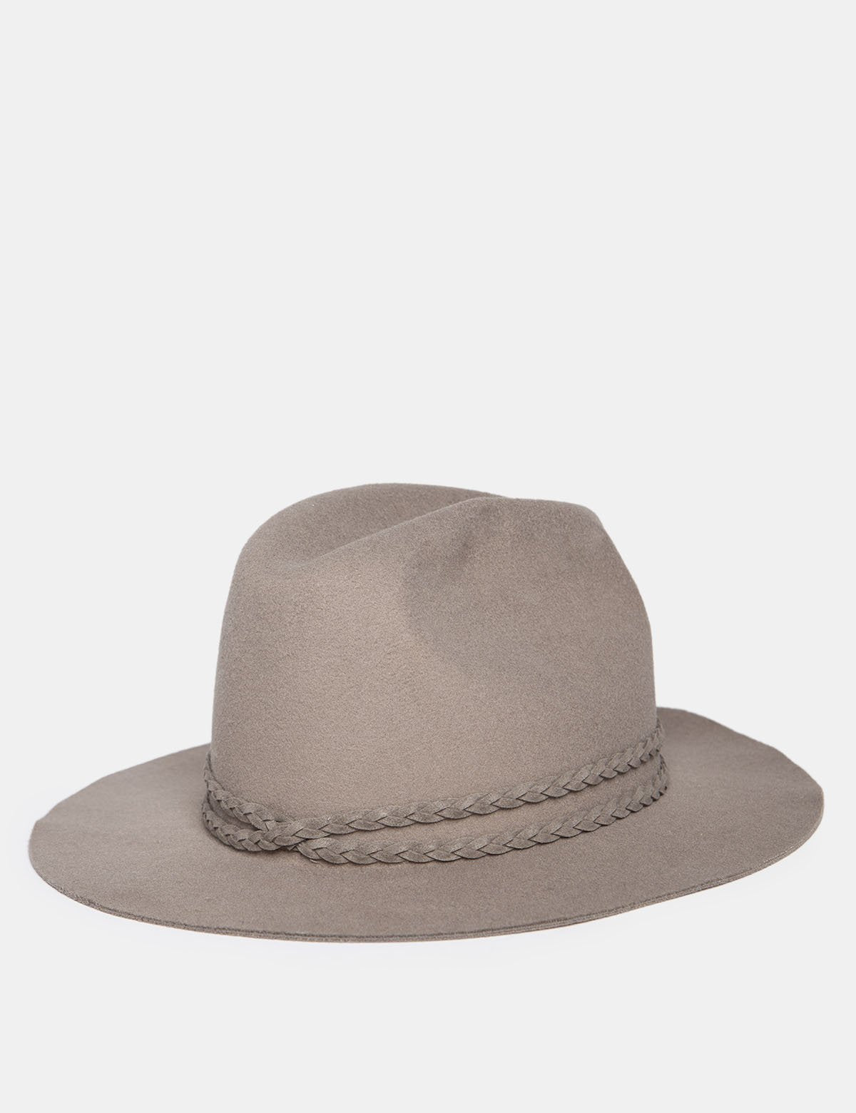 FEDORA WITH BRAIDED DETAIL