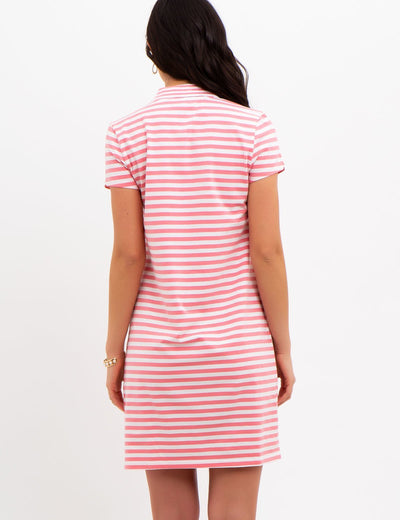 STRIPED ZIP DRESS