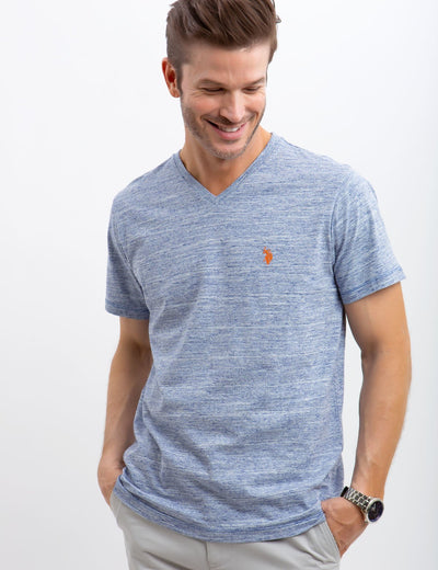 LINEAR SPACE DYED TEE - U.S. Polo Assn.
