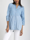 DENIM COLORBLOCK PEPLUM SHIRT - U.S. Polo Assn.